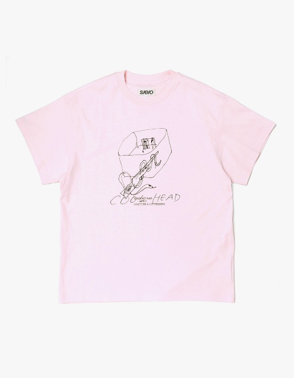 s/e/o Cool Head Tee - Pink | HEIGHTS. | 하이츠 온라인 스토어
