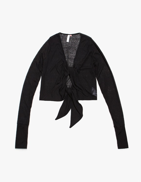 KIJUN Tie Cardigan - Black | HEIGHTS. | 하이츠 온라인 스토어