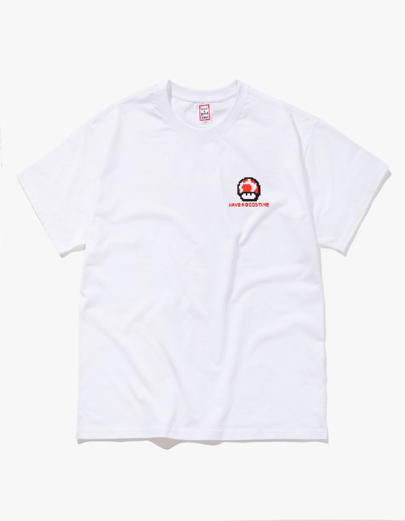 have a good time Digital Logo S/S Tee - White | HEIGHTS. | 하이츠 온라인 스토어