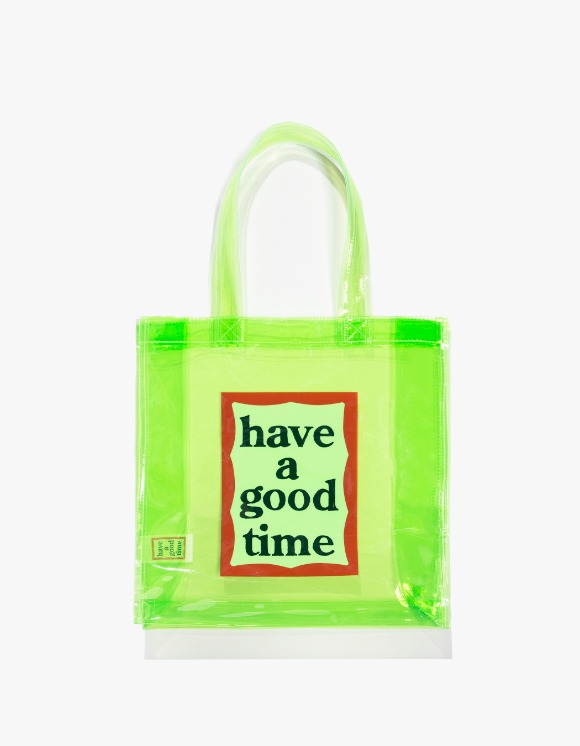 have a good time PVC Clear Tote - Green | HEIGHTS. | 하이츠 온라인 스토어