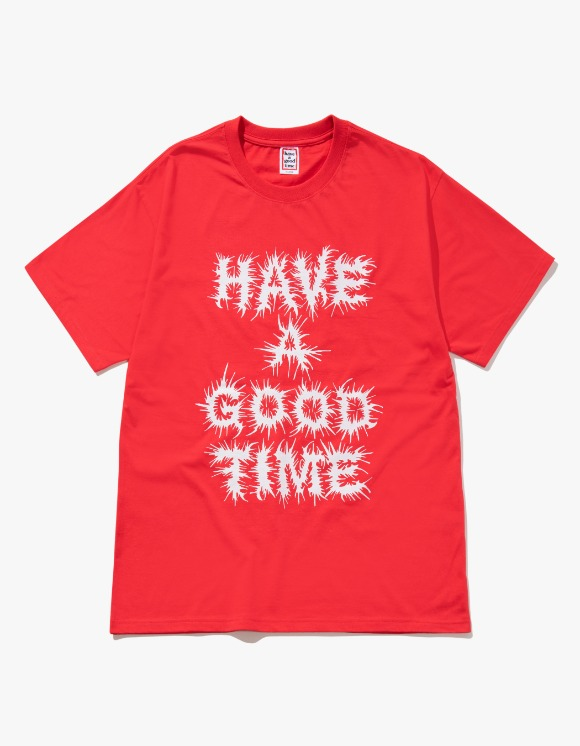 have a good time Chaos Logo S/S Tee - Candy Apple | HEIGHTS. | 하이츠 온라인 스토어