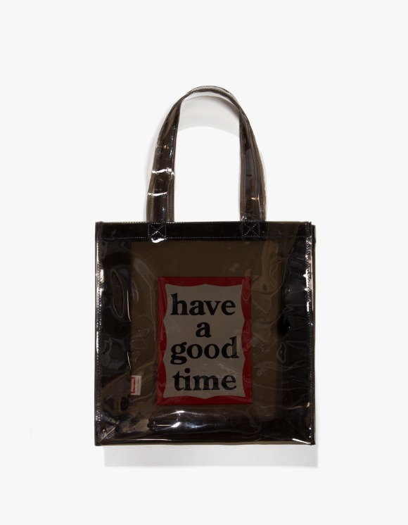 have a good time PVC Clear Tote - Black | HEIGHTS. | 하이츠 온라인 스토어