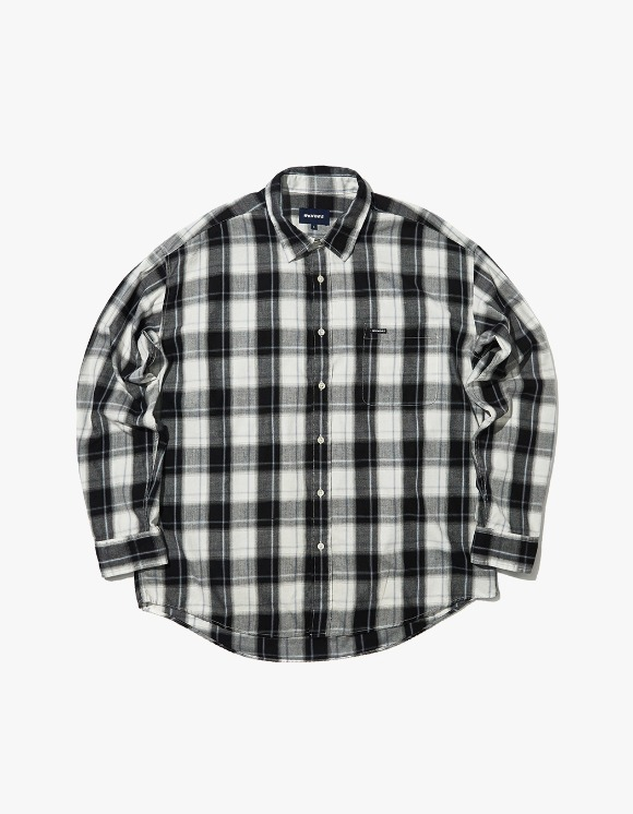 WKNDRS Oversized L/S Check Shirt- Black | HEIGHTS. | 하이츠 온라인 스토어