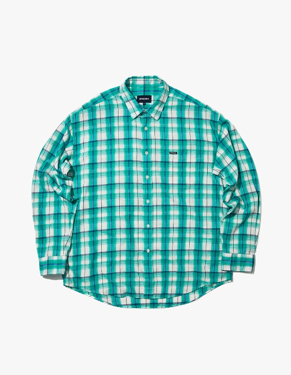 WKNDRS Oversized L/S Check Shirt- Green | HEIGHTS. | 하이츠 온라인 스토어