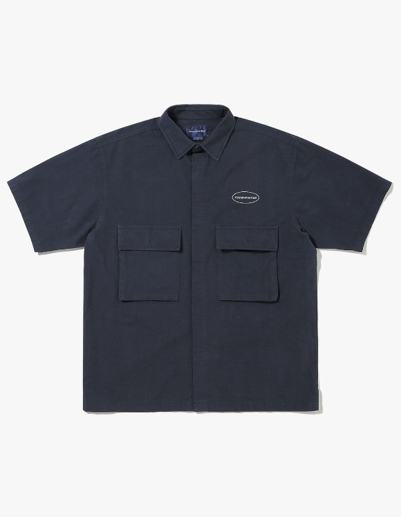 thisisneverthat E/T-Logo Ripstop S/S Shirt - Navy | HEIGHTS. | 하이츠 온라인 스토어