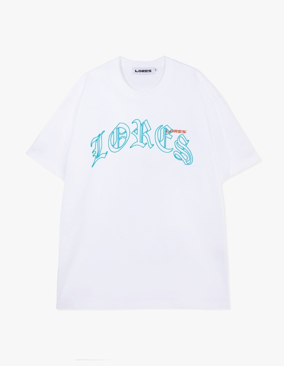 LORES Old English Arch S/S Tee - White | HEIGHTS. | 하이츠 온라인 스토어