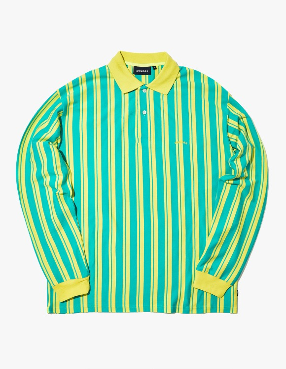 WKNDRS Striped L/S Pique - Green | HEIGHTS. | 하이츠 온라인 스토어