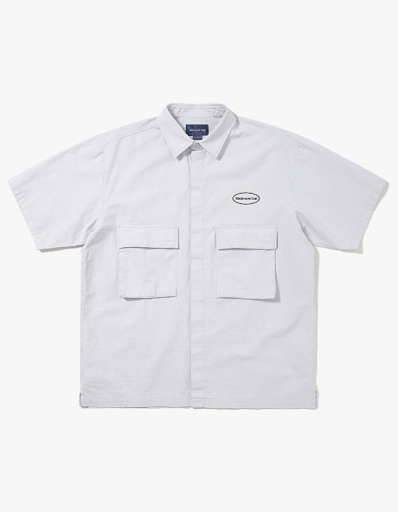 thisisneverthat E/T-Logo Ripstop S/S Shirt - Light Grey | HEIGHTS. | 하이츠 온라인 스토어