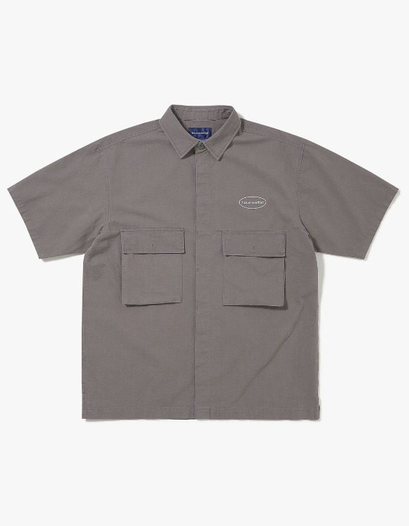 thisisneverthat E/T-Logo Ripstop S/S Shirt - Deep Grey | HEIGHTS. | 하이츠 온라인 스토어