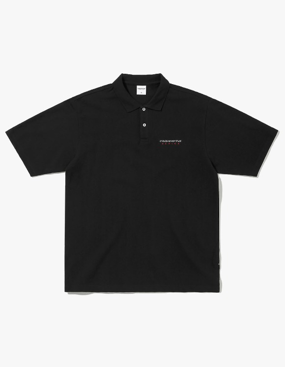 thisisneverthat DSN S/SL Jersey Polo - Black | HEIGHTS. | 하이츠 온라인 스토어