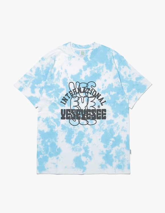 yeseyesee Dyed Tee - White/Sky Blue | HEIGHTS. | 하이츠 온라인 스토어
