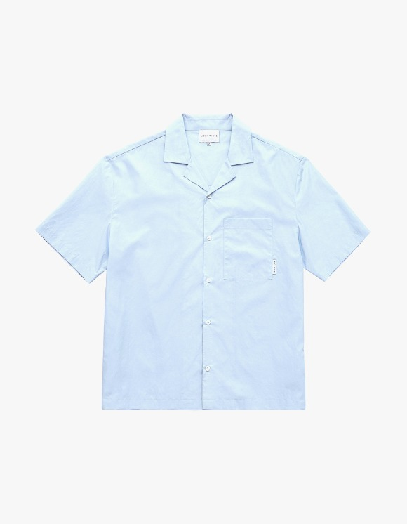 AECA WHITE Open Collar Pocket Shirt - Sky Blue | HEIGHTS. | 하이츠 온라인 스토어