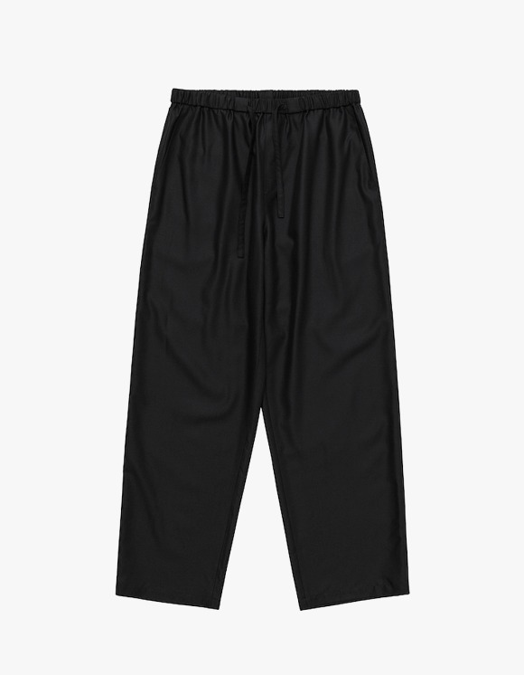 AECA WHITE Relaxed Wide Slacks - Black | HEIGHTS. | 하이츠 온라인 스토어