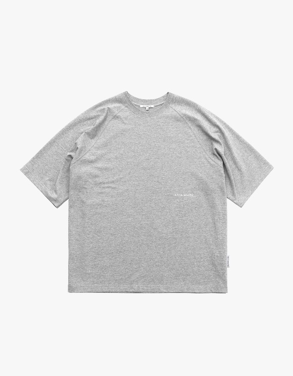 AECA WHITE Oversize Raglan Tee - Grey | HEIGHTS. | 하이츠 온라인 스토어