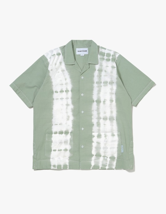 yeseyesee Tie Dyed Aloha Shirts - Olive | HEIGHTS. | 하이츠 온라인 스토어