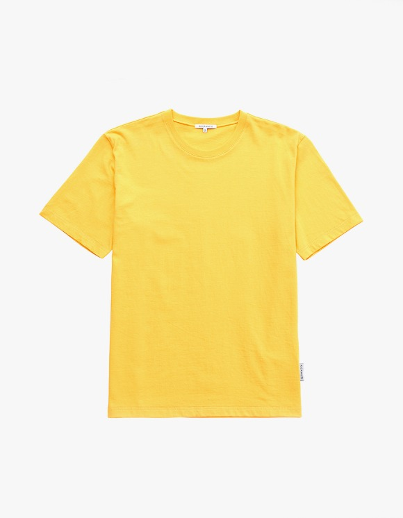 AECA WHITE Finest Cotton Half Sleeve Tee - Yellow | HEIGHTS. | 하이츠 온라인 스토어