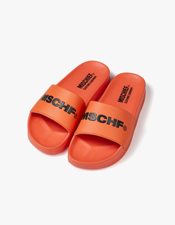 MISCHIEF MSCHF Slides - Orange/Black | HEIGHTS. | 하이츠 온라인 스토어