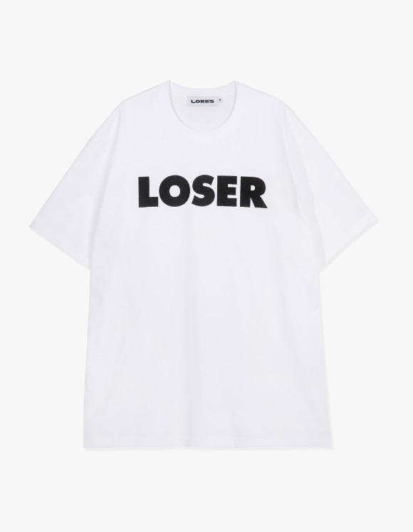 LORES Loser S/S Tee - White | HEIGHTS. | 하이츠 온라인 스토어