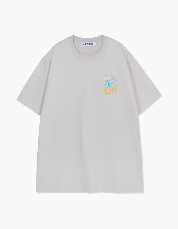 LORES One Day S/S Tee - Ash Grey | HEIGHTS. | 하이츠 온라인 스토어