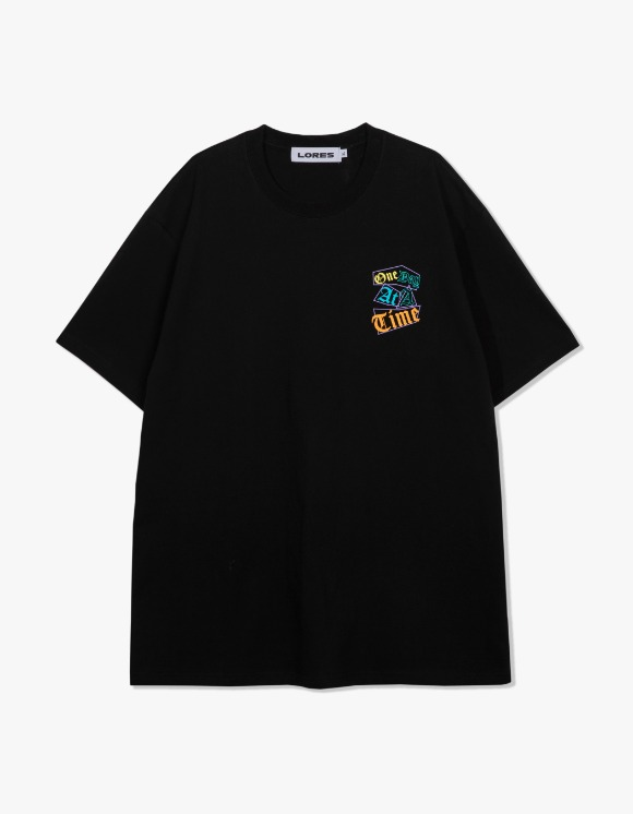 LORES One Day S/S Tee - Black | HEIGHTS. | 하이츠 온라인 스토어