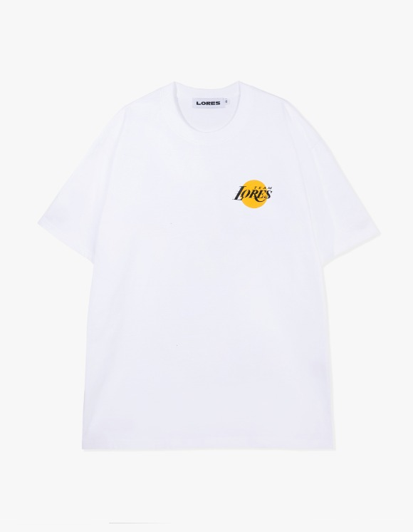 LORES LORES Team S/S Tee - White | HEIGHTS. | 하이츠 온라인 스토어