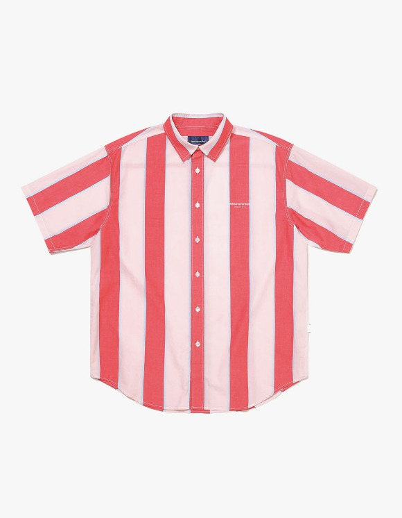 thisisneverthat BIG Striped S/S Shirt - Red/Pink | HEIGHTS. | 하이츠 온라인 스토어