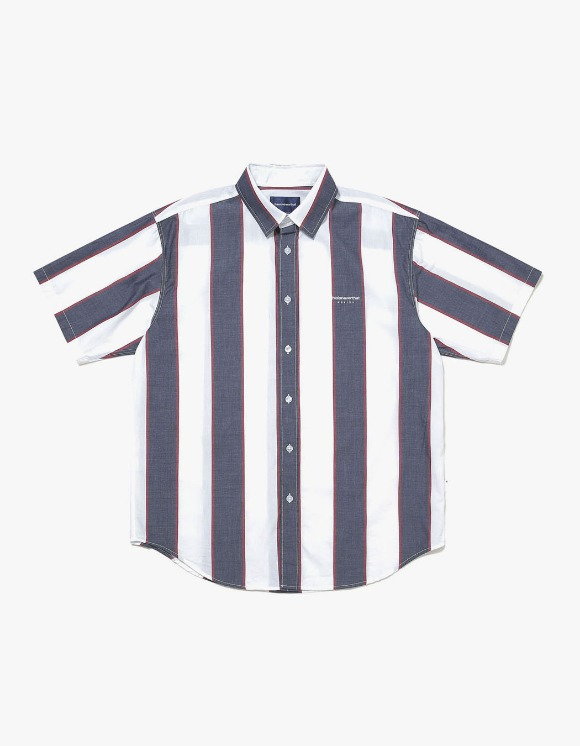 thisisneverthat BIG Striped S/S Shirt - Navy/White | HEIGHTS. | 하이츠 온라인 스토어