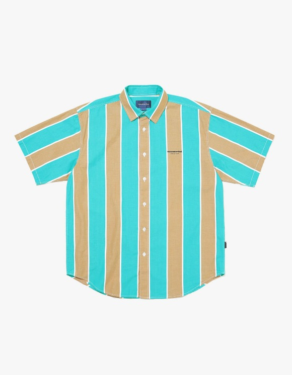 thisisneverthat BIG Striped S/S Shirt - Green/Brown | HEIGHTS. | 하이츠 온라인 스토어