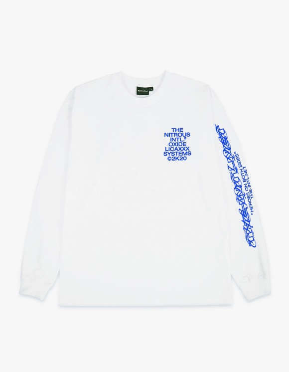 The Internatiiional The Intl. x N.O.S. x Licaxxx L/S Tee - Blue | HEIGHTS. | 하이츠 온라인 스토어