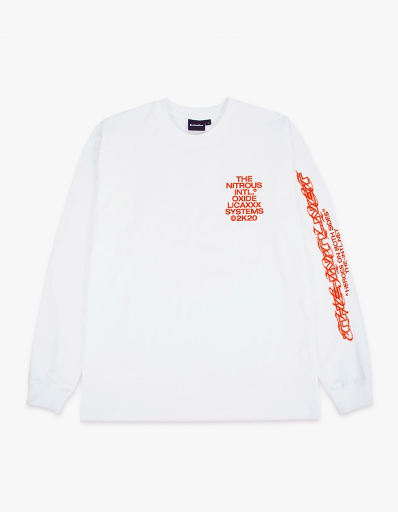 The Internatiiional The Intl. x N.O.S. x Licaxxx L/S Tee - Neon Orange | HEIGHTS. | 하이츠 온라인 스토어
