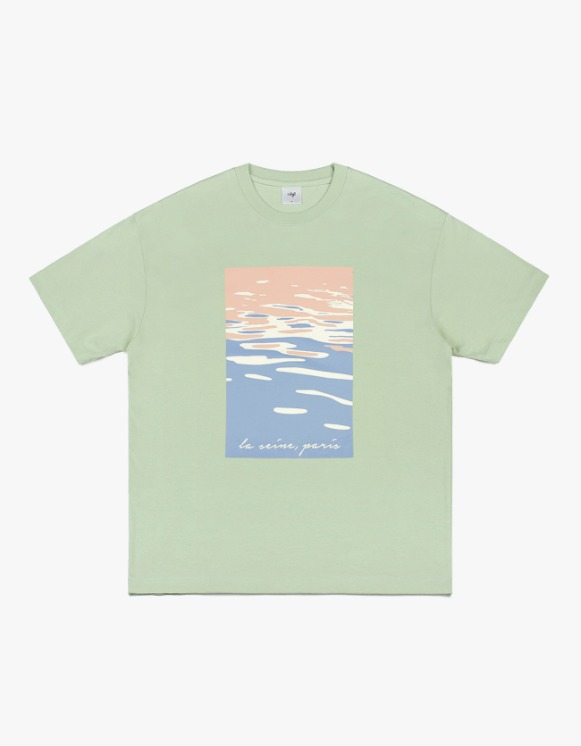 CLIF Seine Painting S/S Tee - Mint | HEIGHTS. | 하이츠 온라인 스토어