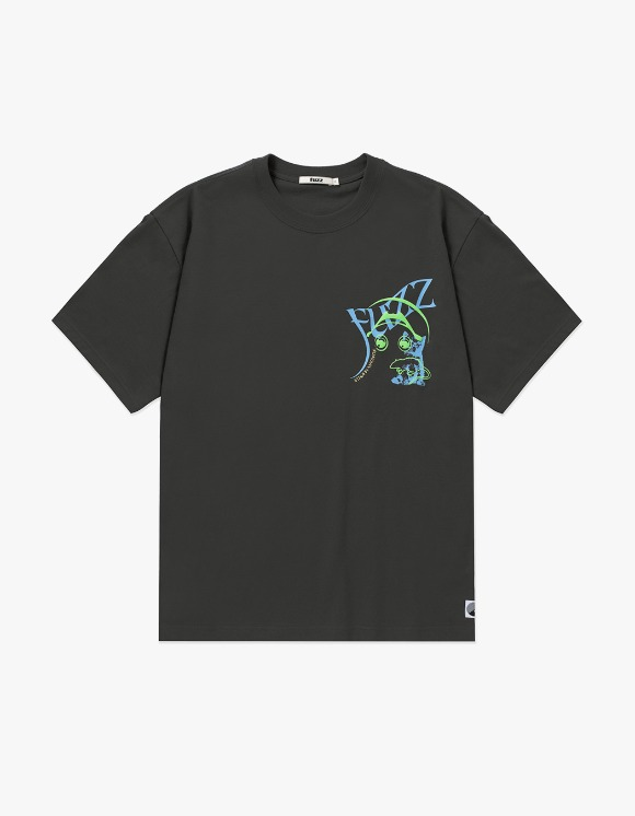 Fuzz FUZZ x RAREBIRTH TEE charcoal | HEIGHTS. | 하이츠 온라인 스토어