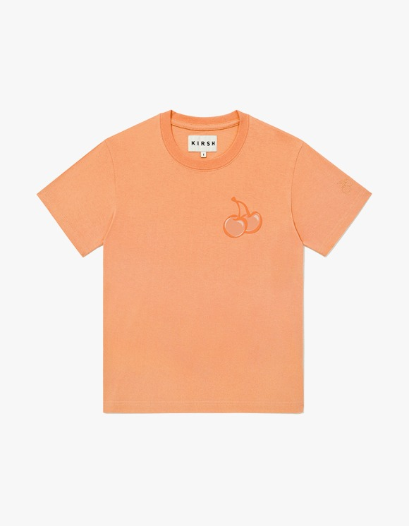 KIRSH TONE ON TONE MIDDLE CHERRY T-SHIRT JH - Orange | HEIGHTS. | 하이츠 온라인 스토어