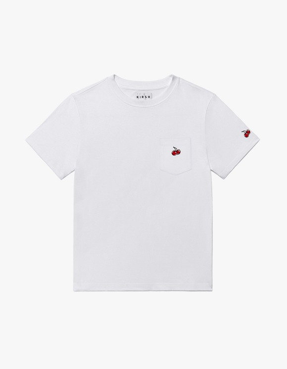 KIRSH POCKET CHERRY T-SHIRT JH - White | HEIGHTS. | 하이츠 온라인 스토어