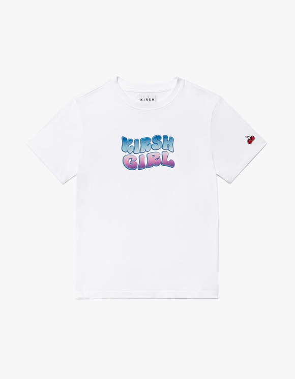 KIRSH KIRSH GIRL ICE GRADATION LOGO T-SHIRTS JH - White | HEIGHTS. | 하이츠 온라인 스토어