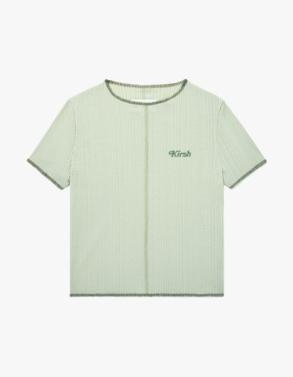 KIRSH KIRSH COLOR STITCH T-SHIRT JH - Light Green | HEIGHTS. | 하이츠 온라인 스토어