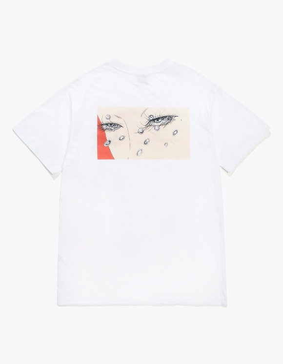 HEIGHTS. X MIKI Angry Eyes S/S Tee - White | HEIGHTS. | 하이츠 온라인 스토어