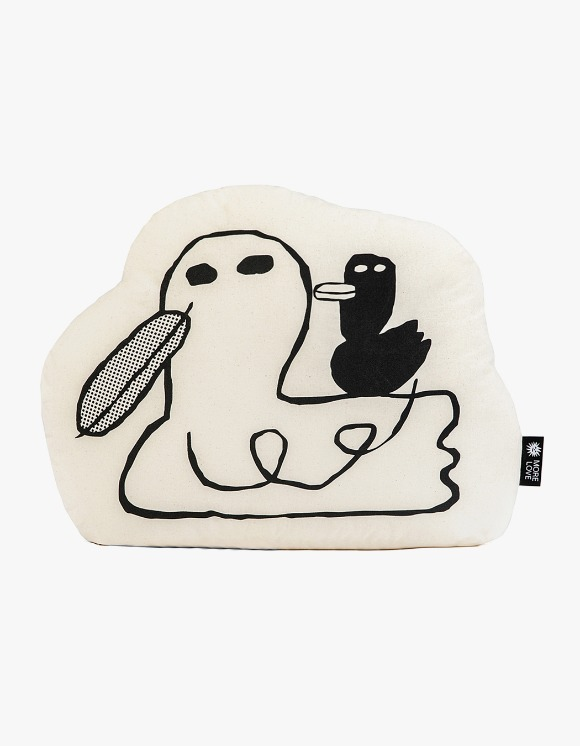 Balansa X More Love By Kentaro Duck Cushion - Beige | HEIGHTS. | 하이츠 온라인 스토어