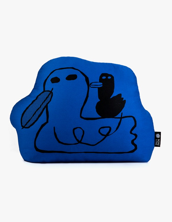 Balansa X More Love By Kentaro Duck Cushion - Blue | HEIGHTS. | 하이츠 온라인 스토어