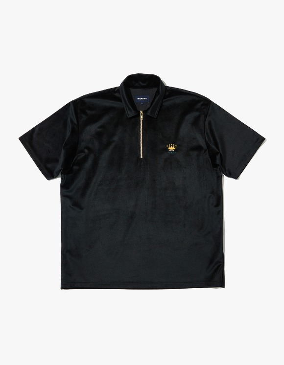 WKNDRS Velvet S/S Polo Shirt - Black | HEIGHTS. | 하이츠 온라인 스토어