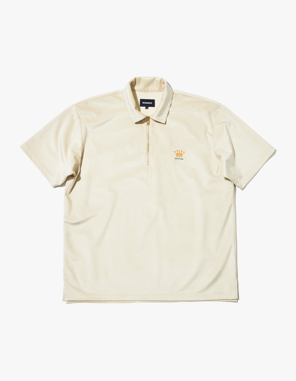 WKNDRS Velvet S/S Polo Shirt - White | HEIGHTS. | 하이츠 온라인 스토어