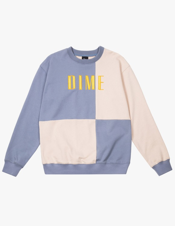 Dime Dime Block Terry Crewneck - Light Blue | HEIGHTS. | 하이츠 온라인 스토어