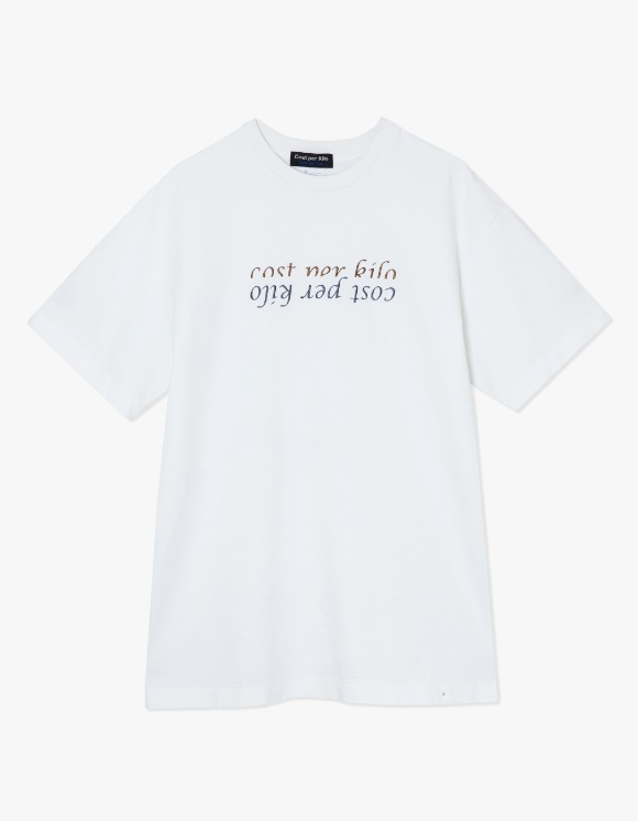 Cost Per Kilo Half Lettering S/S Tee - White | HEIGHTS. | 하이츠 온라인 스토어