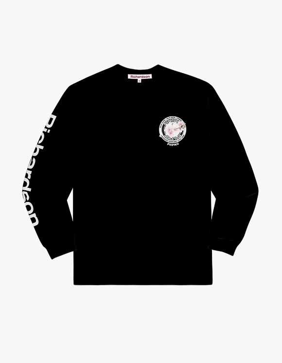 Richardson Cherry Blossom Teamster L/S Tee - Black | HEIGHTS. | 하이츠 온라인 스토어