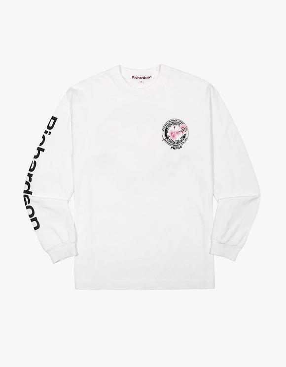 Richardson Cherry Blossom Teamster L/S Tee - White | HEIGHTS. | 하이츠 온라인 스토어