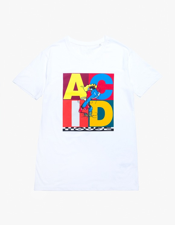 IDEA Yves Uro ACID House S/S Tee - White | HEIGHTS. | 하이츠 온라인 스토어