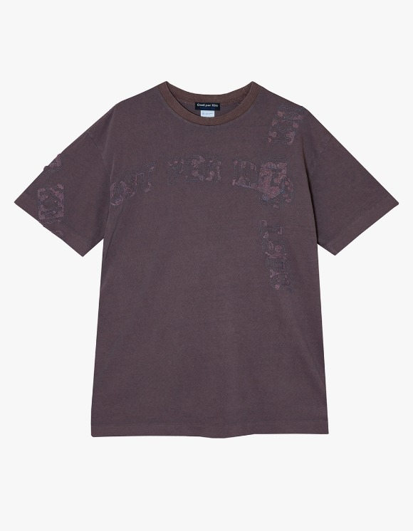 Cost Per Kilo All Over Lettering S/S Tee - Rust Wine | HEIGHTS. | 하이츠 온라인 스토어