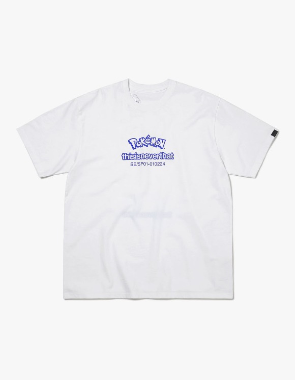 thisisneverthat PKM Reversible Tee - White/Blue | HEIGHTS. | 하이츠 온라인 스토어