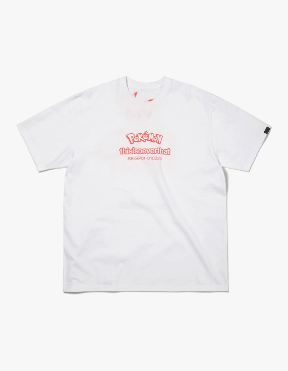thisisneverthat PKM Reversible Tee - White/Orange | HEIGHTS. | 하이츠 온라인 스토어