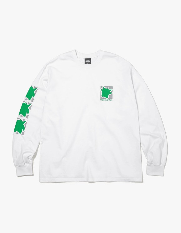 thisisneverthat PKM Reflective L/SL Top - White/Green | HEIGHTS. | 하이츠 온라인 스토어